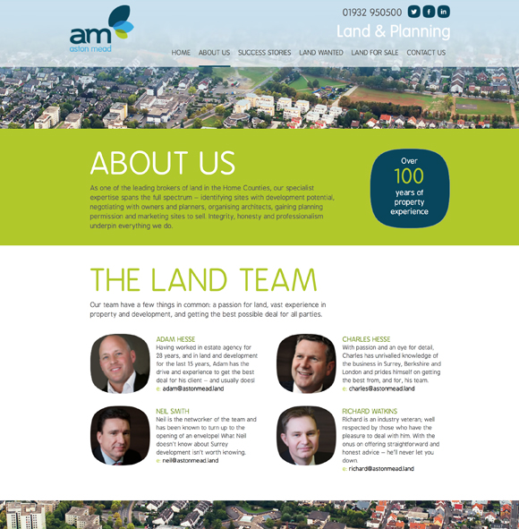 Aston Mead Land and Planning - Branding and website design