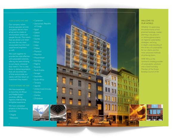WSP Africa Brochures - design layout
