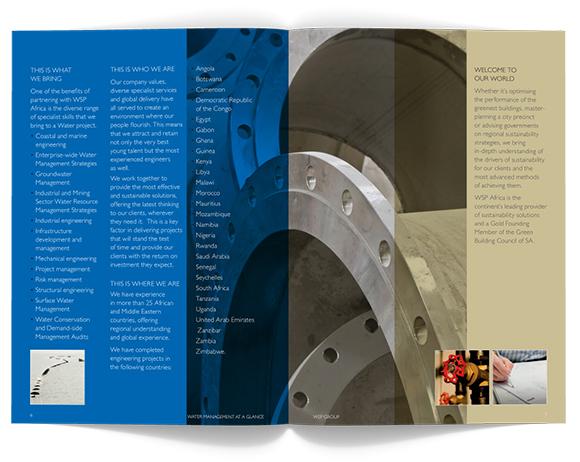 WSP Africa Brochures - spread layout
