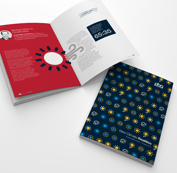 PBA Climate Change Campaign - visual system development and book design