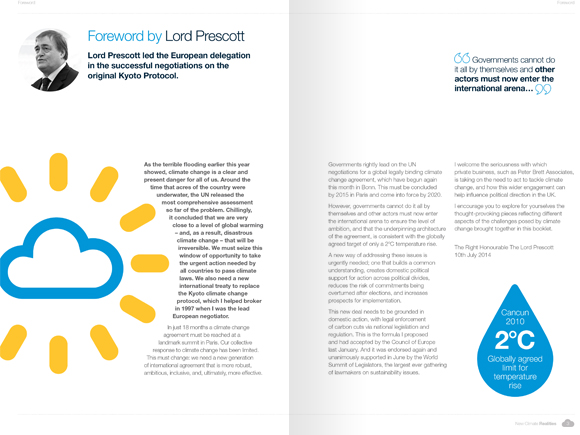 PBA Climate Change Campaign - weather visuals and book layout