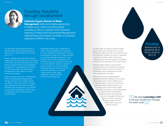 PBA Climate Change Campaign - flooding visuals and book layout