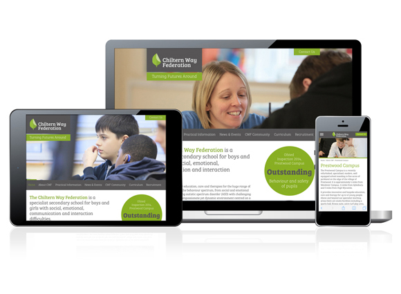 Chiltern Way Federation Branding - website design and build