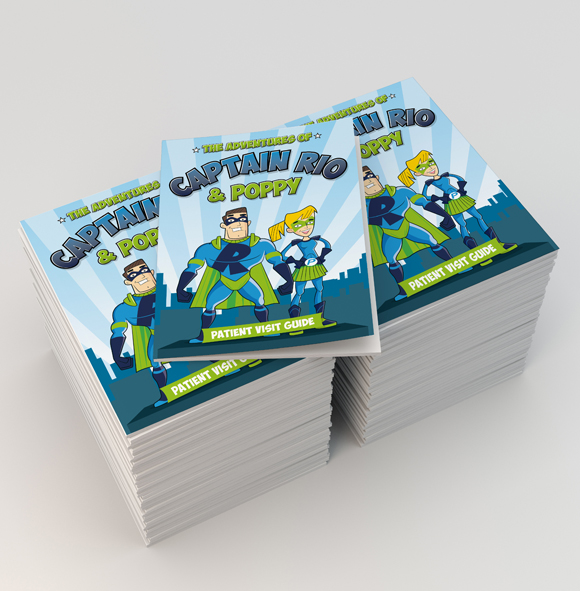 Captain Rio and Poppy - patient visit guide - design and print