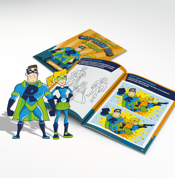 Captain Rio and Poppy - activity book - design and print