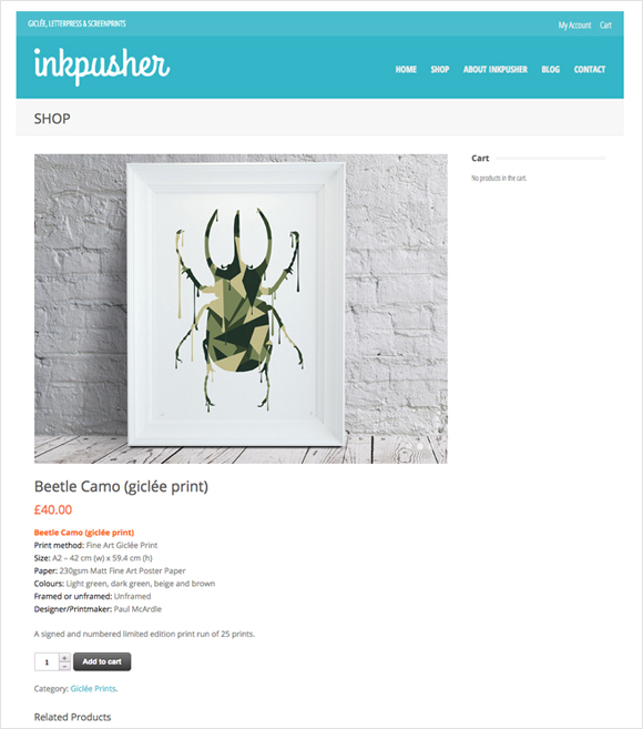 Inkpusher webstore - shop for fine-art Giclée prints