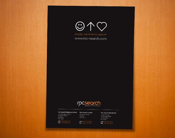 Roc Search Brand Development - corporate brochure design - inside