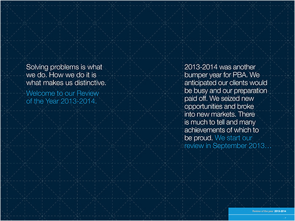 PBA Review of the Year 2014 - book design and print