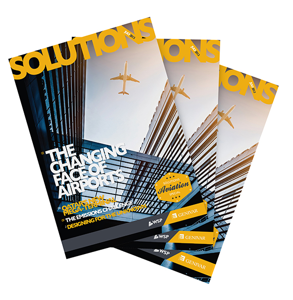WSP - Solutions Magazine - August edition design and print