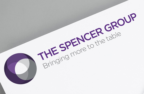 Spencer Group rebrand & website - new brand mark and supporting strapline