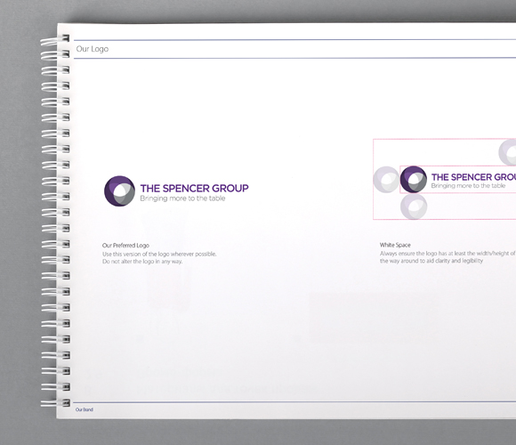 Spencer Group rebrand & website - brand guidlines