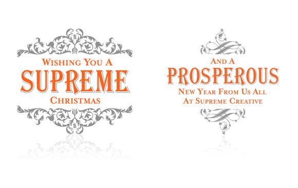 Supreme Christmas Card - letterpress printing