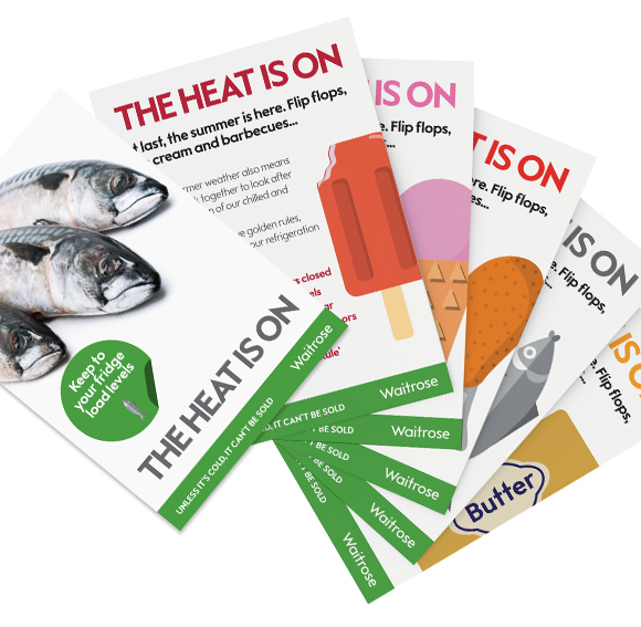 Waitrose – The Heat Is On! - printed booklets