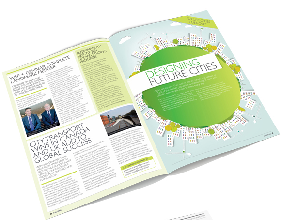 WSP Solutions Magazine November 2012 - layout design