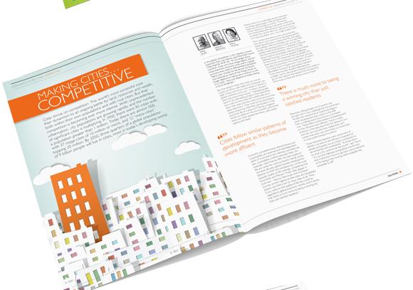 WSP Solutions Magazine November 2012 - magazine layout design