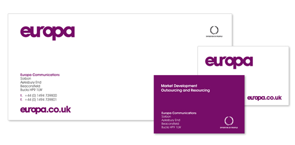 Europa branding and website