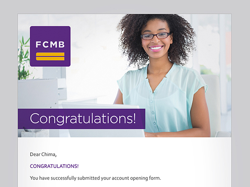 First City Monument Bank (FCMB) email campaigns