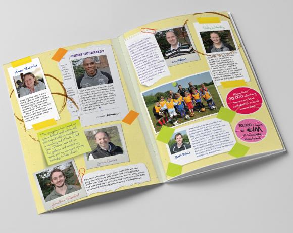 John Lewis Partnership - Partner Coaching Programme souvenir book layout