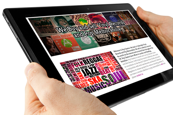 Pop Classics responsive website design