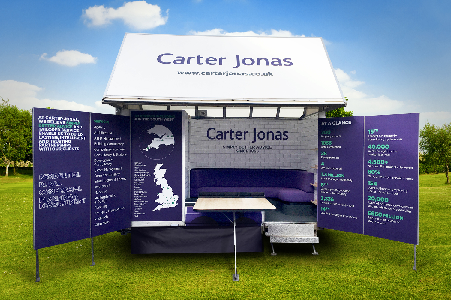 Carter Jonas exhibition trailer