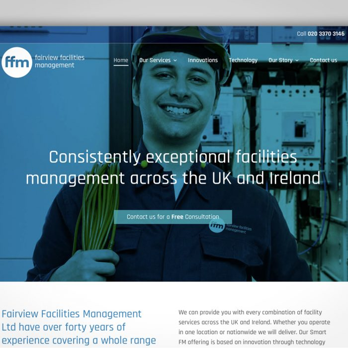 Fairview Facilities Management branding and marketing materials