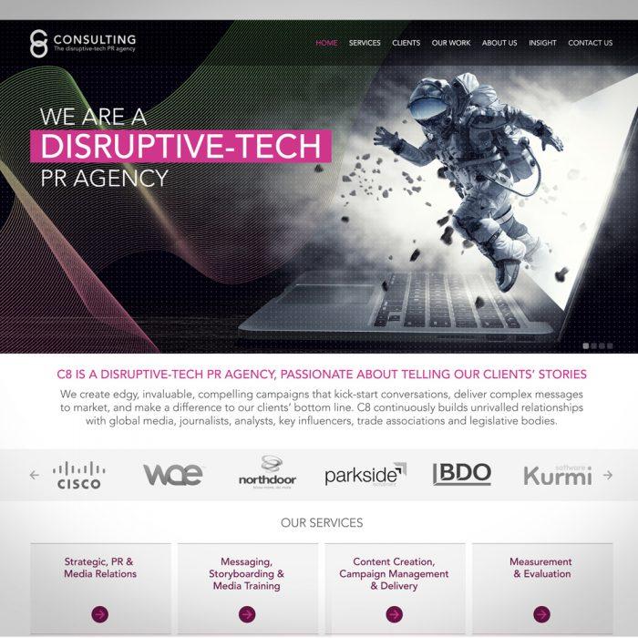 C8 Consulting website