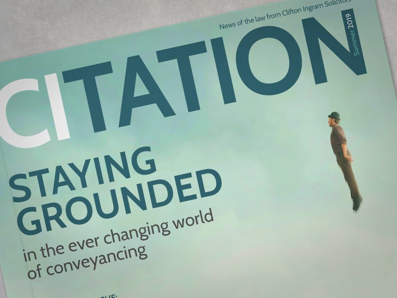 Citation magazine for Clifton Ingram Solicitors