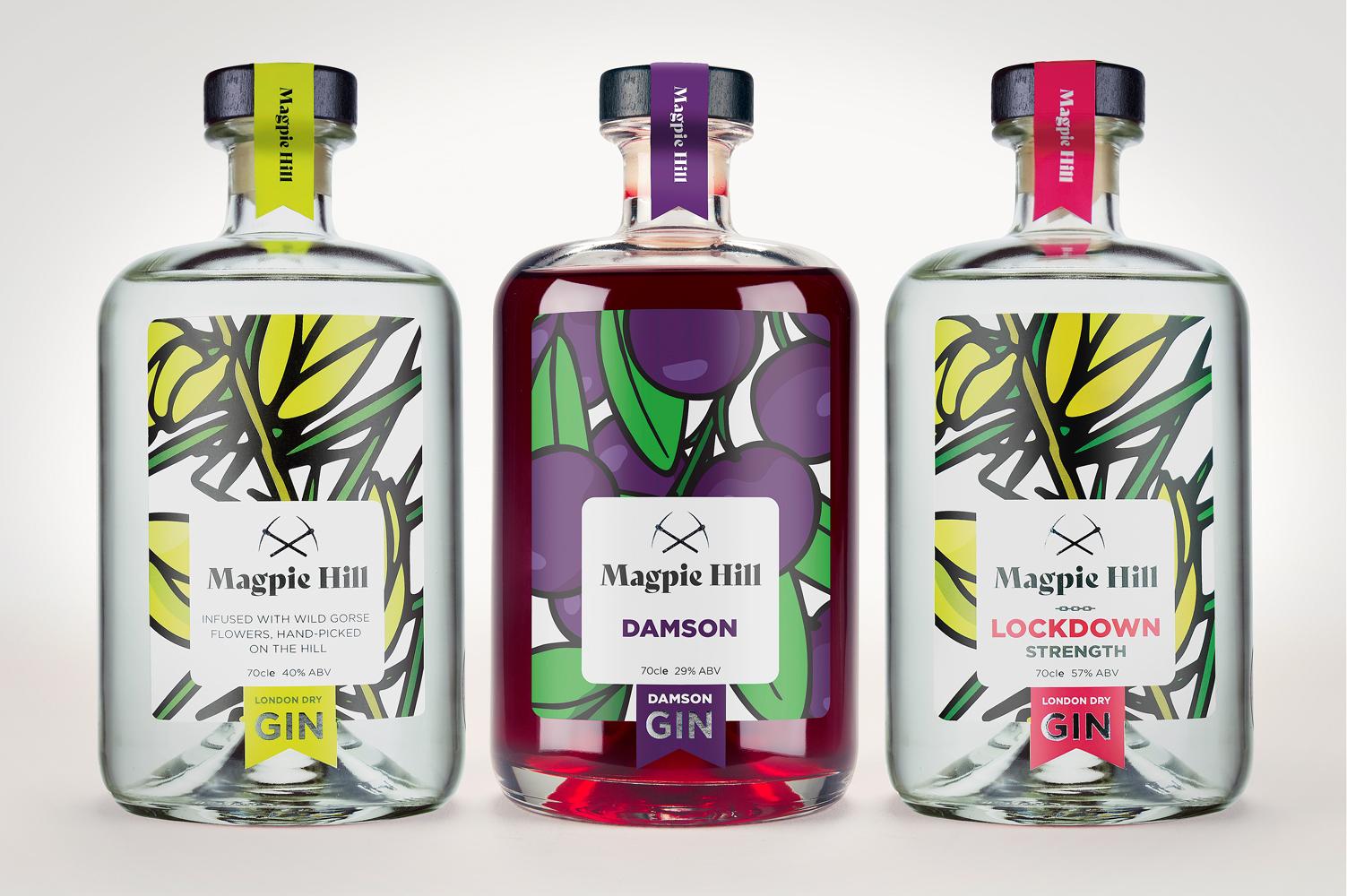 Magpie Hill gin range