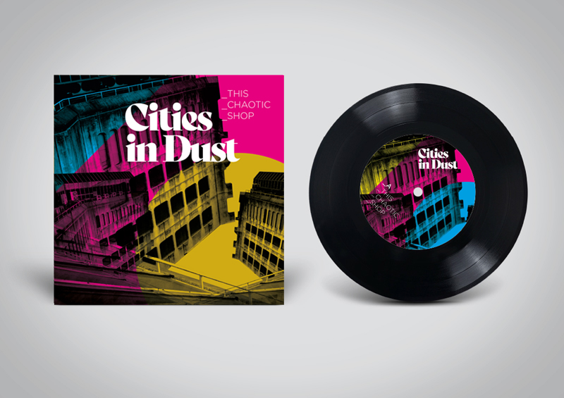 Cities in Dust band ident and sleeve designs